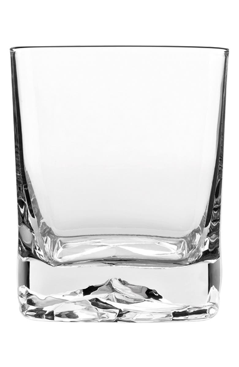 LUIGI BORMIOLI On the Rocks Set of 4 Double Old Fashioned Glasses, Main, color, CLEAR