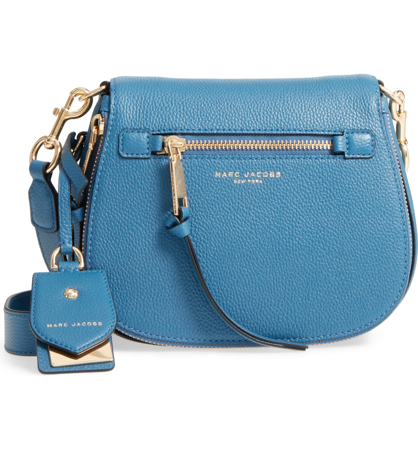 124e85406 MARC JACOBS Small Recruit Nomad Pebbled Leather Crossbody Bag | Nordstrom