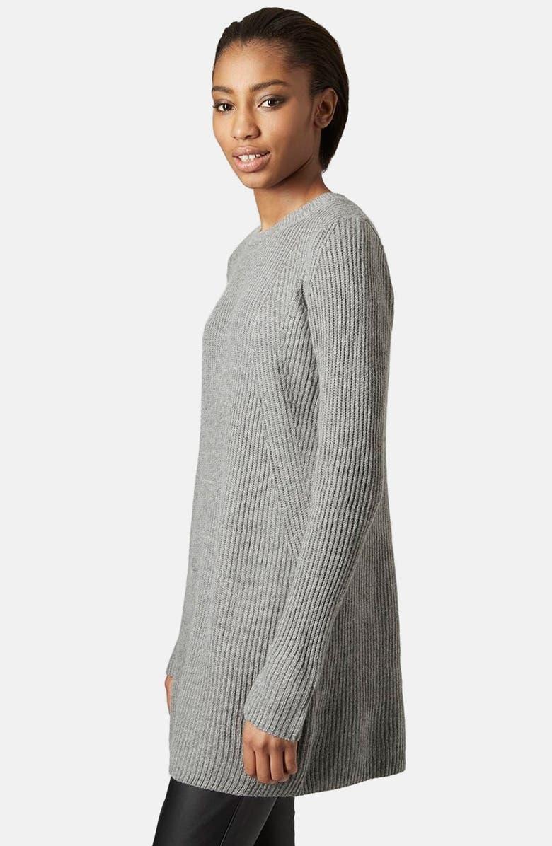 TOPSHOP Rib Knit Sweater Dress, Main, color, 021