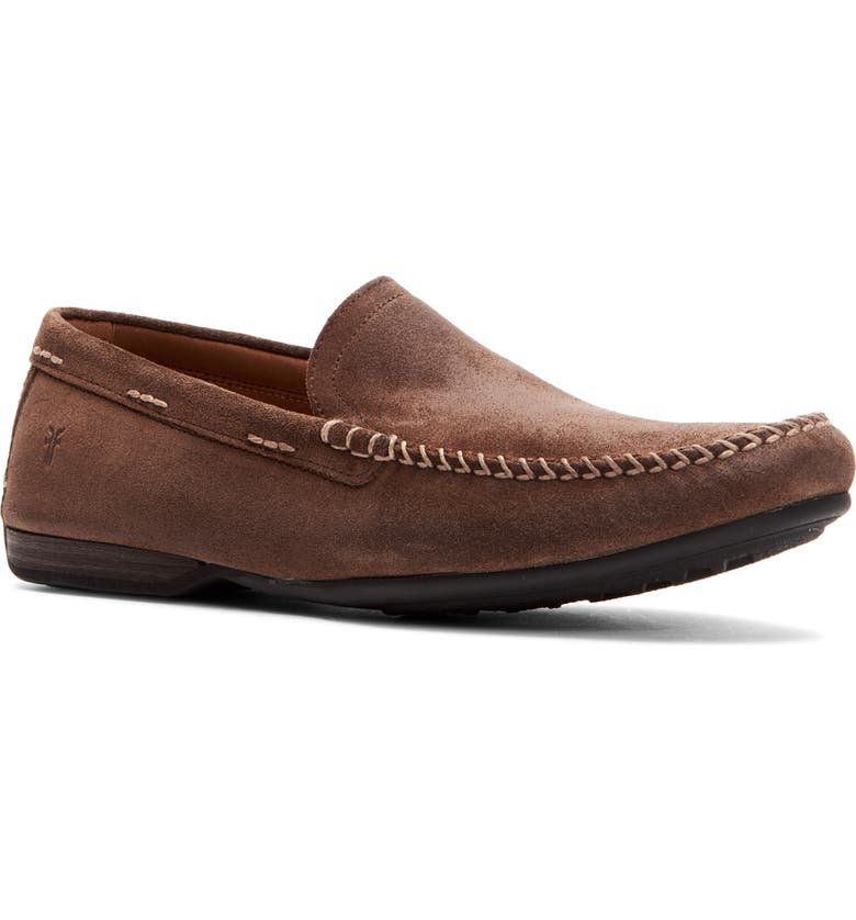 FRYE Lewis Driving Shoe, Main, color, DARK BROWN LEATHER