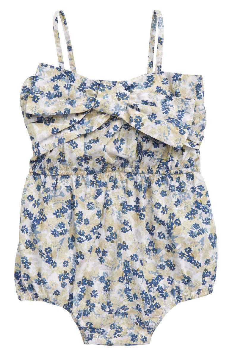 SOMETHING NAVY Bow Romper, Main, color, 100