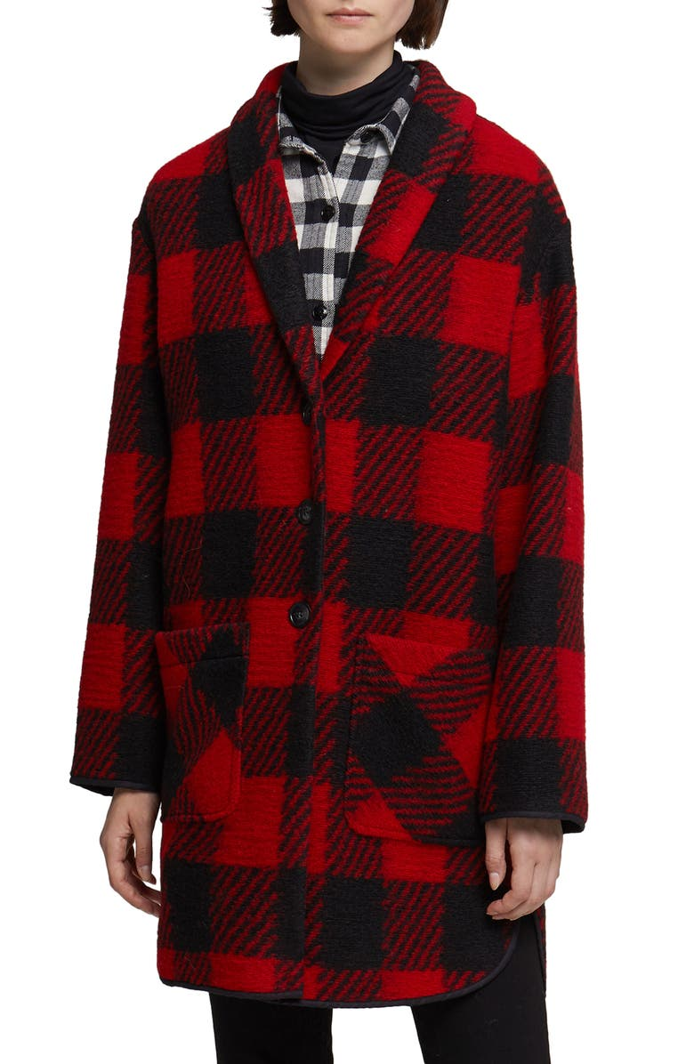 WOOLRICH Gentry Coat, Main, color, RED BUFFALO
