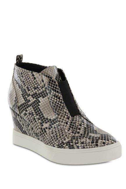Image of MIA Cristie Snake Print Wedge Sneaker