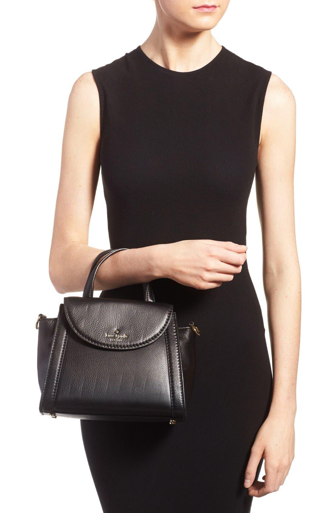 ,                             'cobble hill - small adrien' leather satchel,                             Alternate thumbnail 4, color,                             001