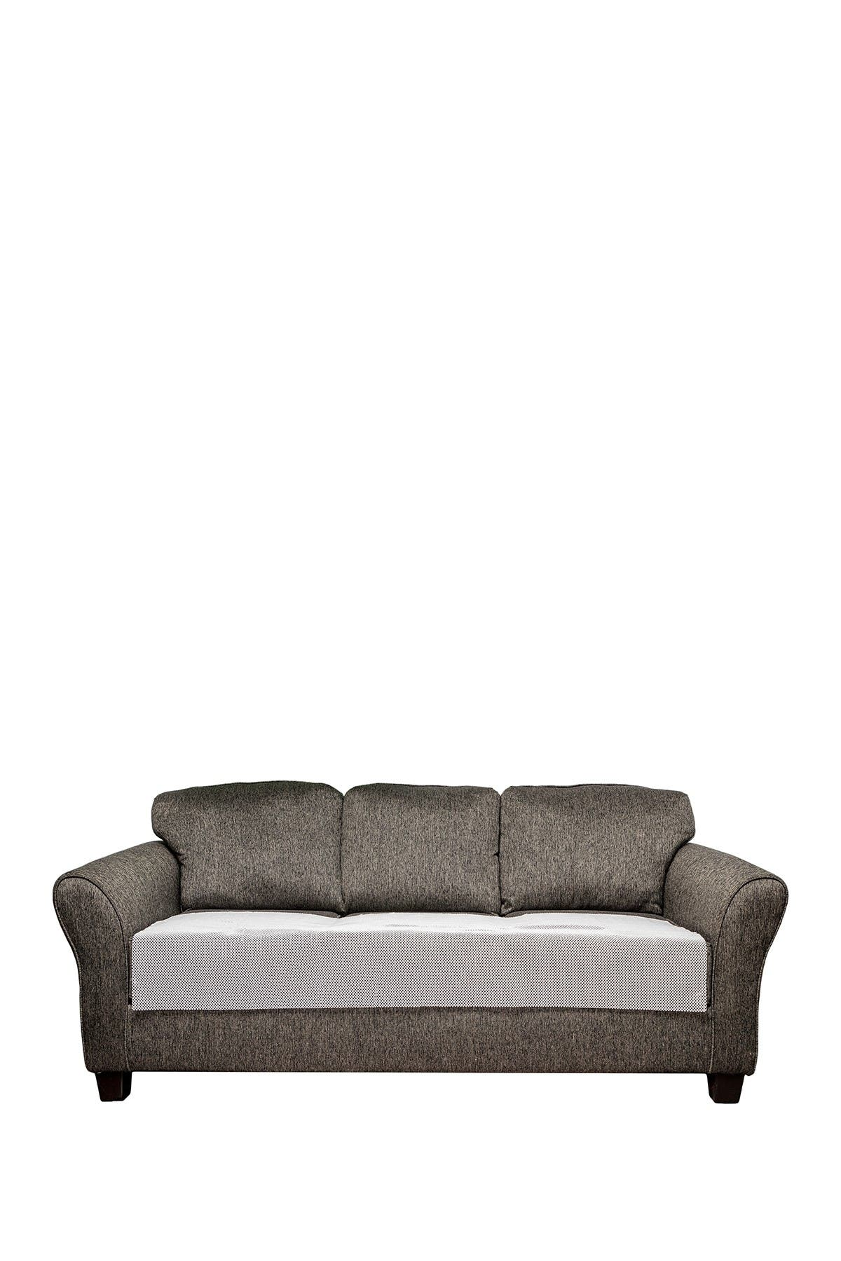 Image of Duck River Textile White Anti-Slip Sofa Cover with Pockets
