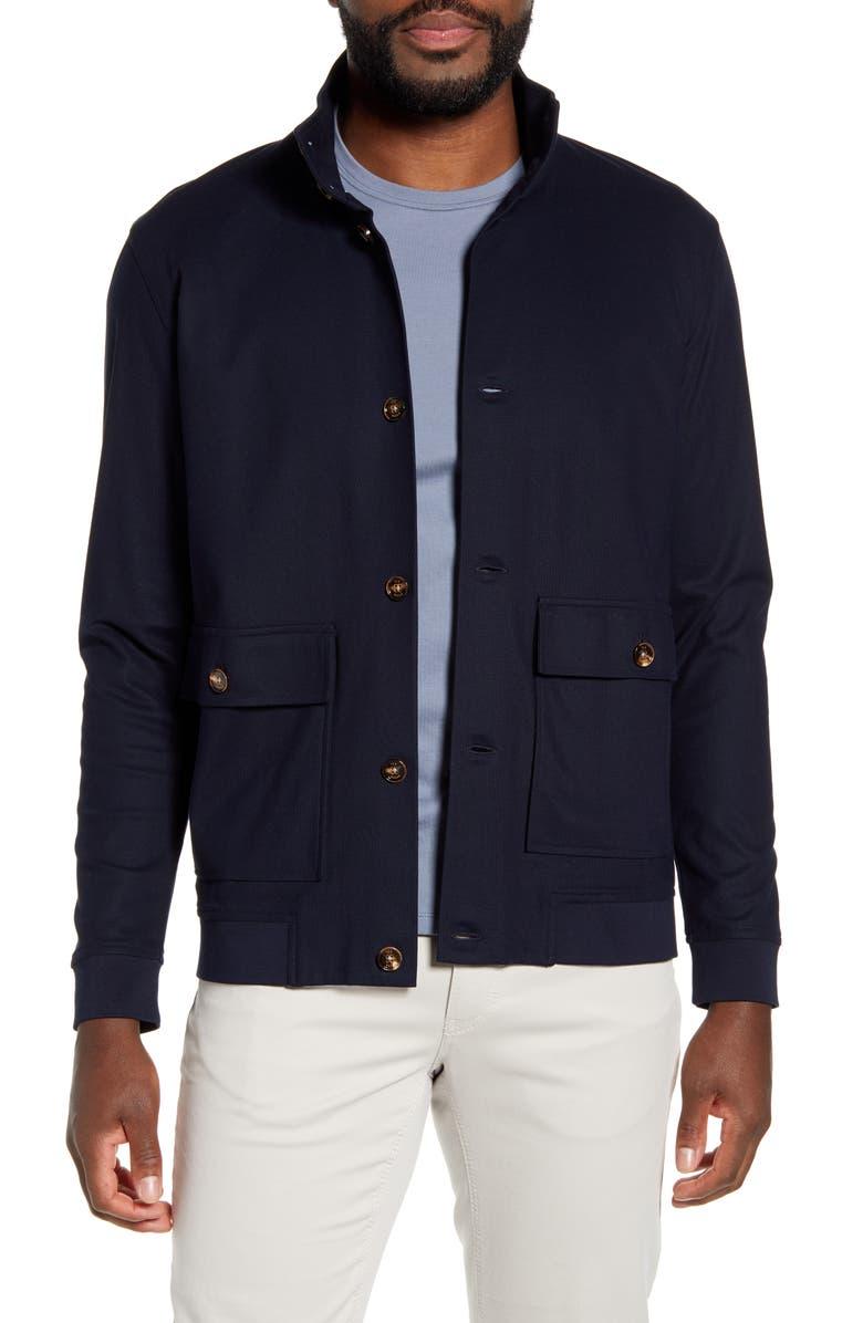 TED BAKER LONDON Expreso Slim Flit Jacket, Main, color, DARK NAVY