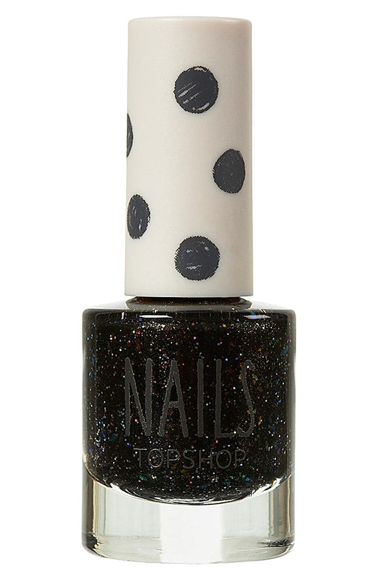 TOPSHOP Glitter Nail Polish, Main, color, 001