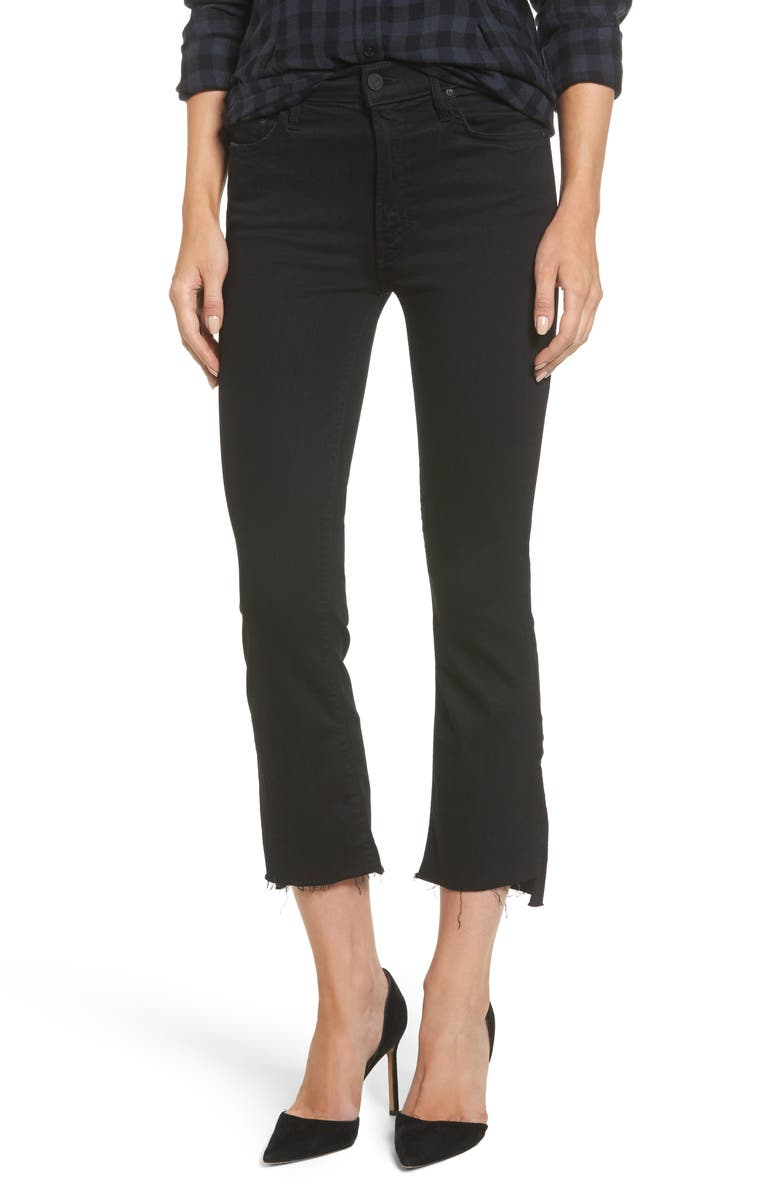 MOTHER The Insider Crop Jeans, Main, color, NOT GUILTY