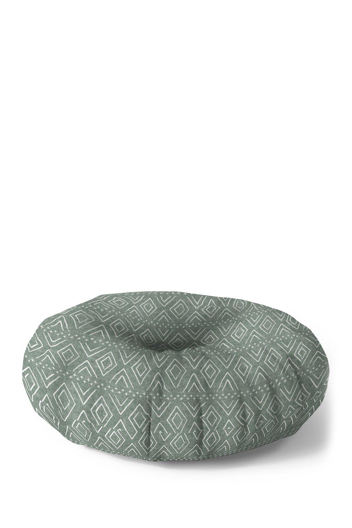 Image of Deny Designs Little Arrow Design Co Farmhouse Diamonds Sage Round Floor Pillow