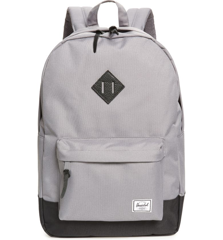 HERSCHEL SUPPLY CO. Heritage Backpack, Main, color, GREY/ BLACK