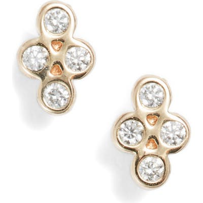 Zoe Chicco Tiny Quad Diamond Stud Earrings
