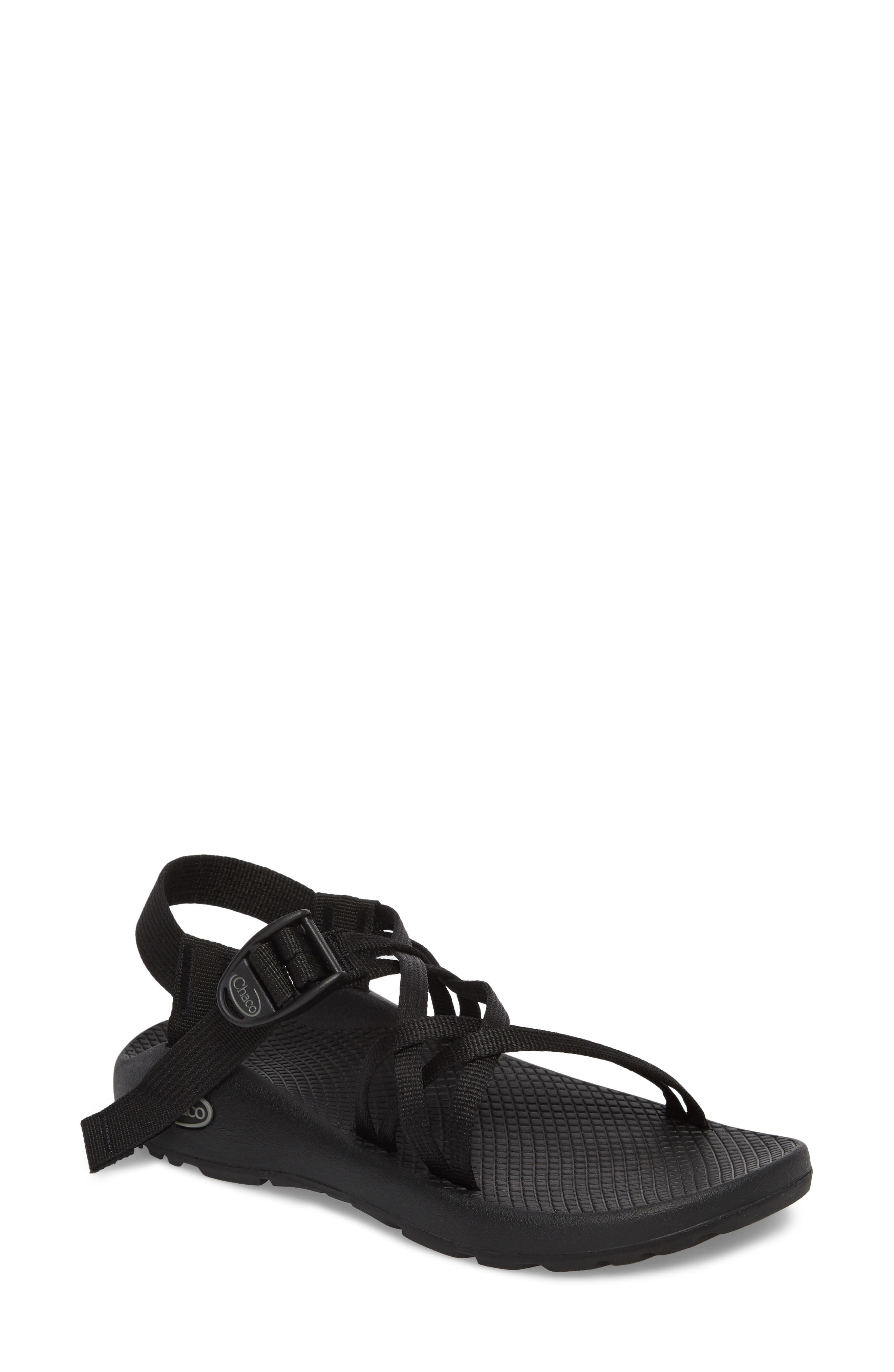 Beloved by camp counselors and river-raft guides since 1989, this water-friendly sandal is made with the brand\\\'s ChacoGrip rubber sole and a podiatrist-certified LUVSEAT no-slip footbed that keeps your foot comfortable and firmly in place. Style Name: Chaco Zx1 Classic Sport Sandal (Women). Style Number: 5530351. Available in stores.