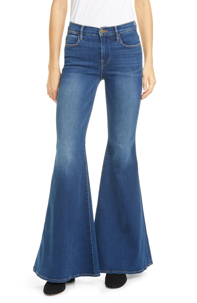 FRAME Le High Super Flare Jeans, Main, color, CANTINE