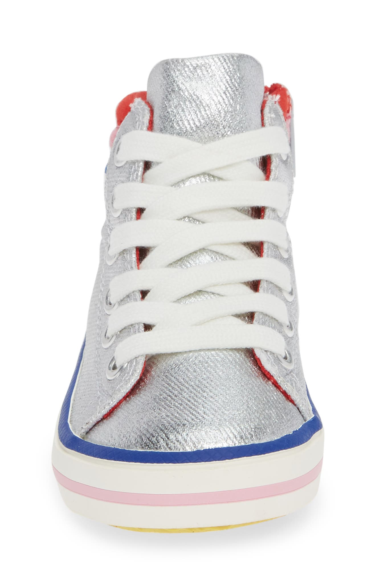 ,                             Appliqué High Top Sneaker,                             Alternate thumbnail 4, color,                             044
