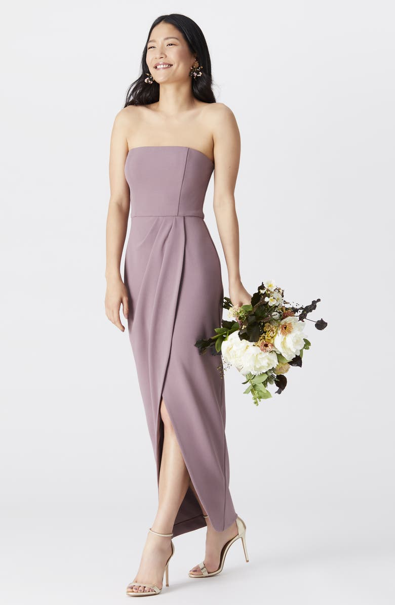 WAYF The Angelique Strapless Tulip Gown, Main, color, 001