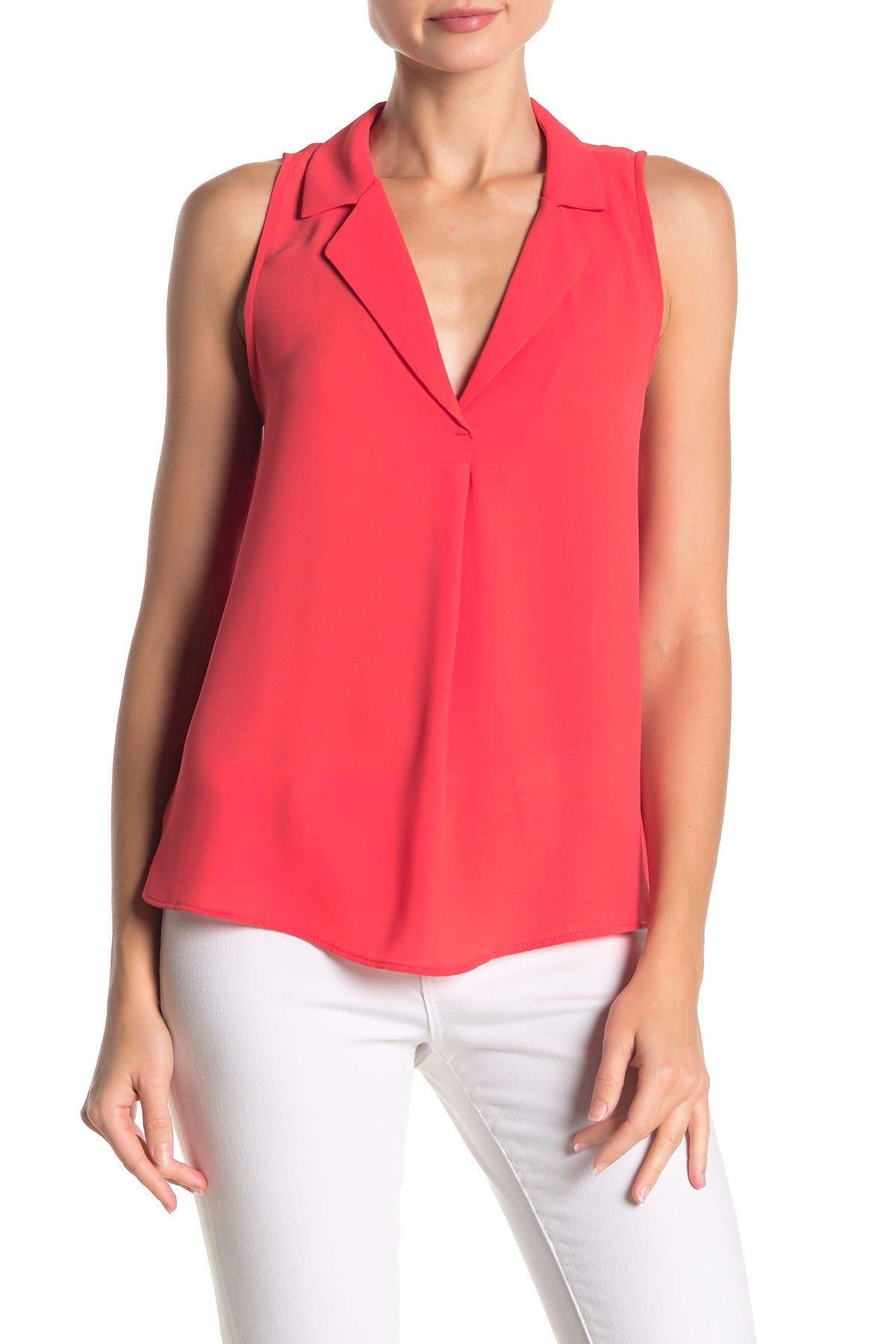 Image of Lush Sleeveless Collared Shirt