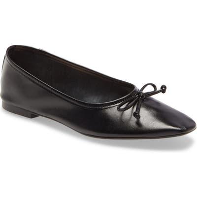 Schutz Arissa Square Toe Ballet Flat, Black
