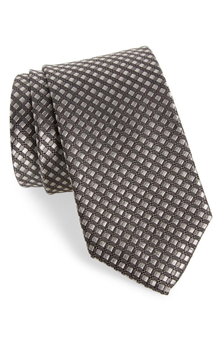 NORDSTROM MEN'S SHOP Nathan Neat Silk Tie, Main, color, 001