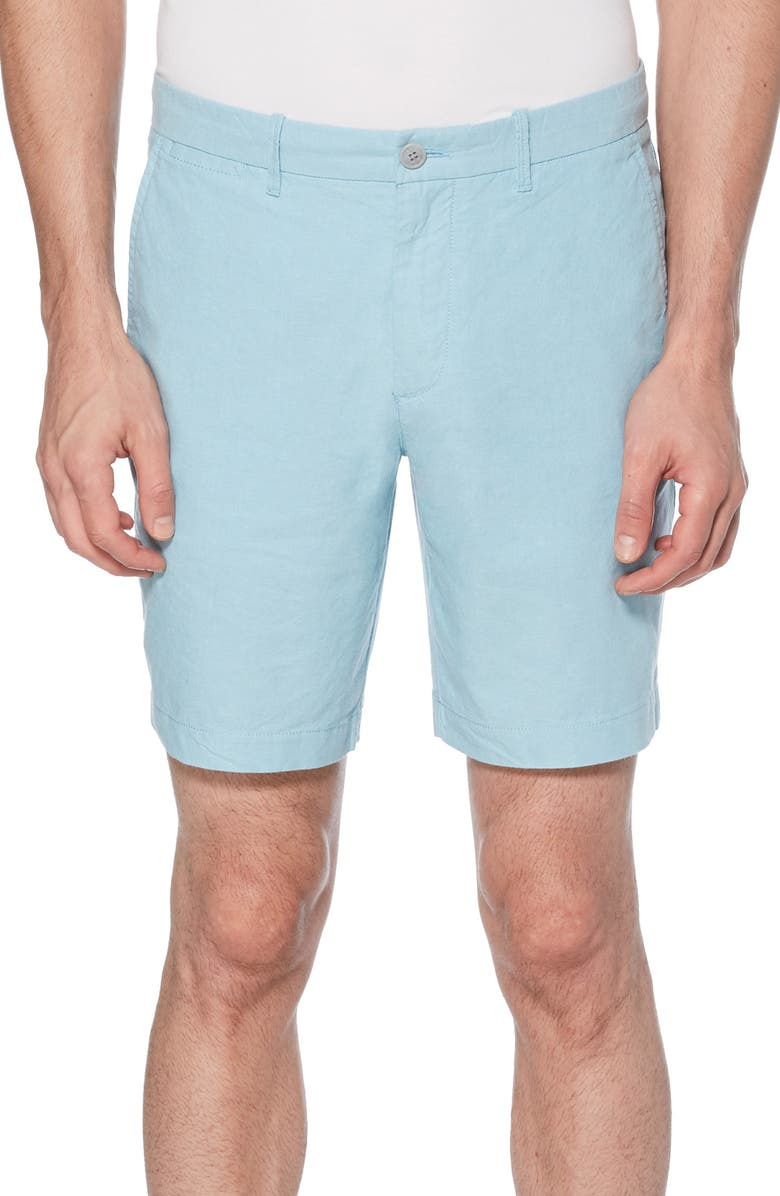 ORIGINAL PENGUIN Exclusive Oxford Shorts, Main, color, AIR BLUE