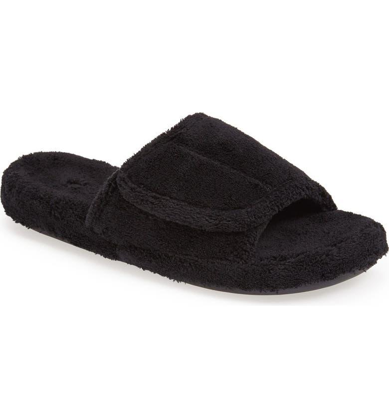 ACORN 'Spa' Slipper, Main, color, BLACK