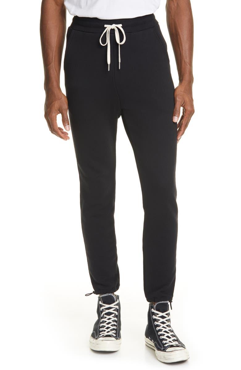 JOHN ELLIOTT Sochi French Terry Sweatpants, Main, color, BLACK