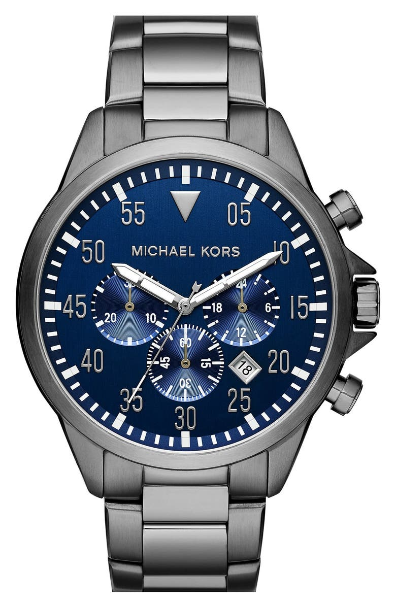 MICHAEL KORS 'Gage' Chronograph Bracelet Watch, 45mm, Main, color, 020