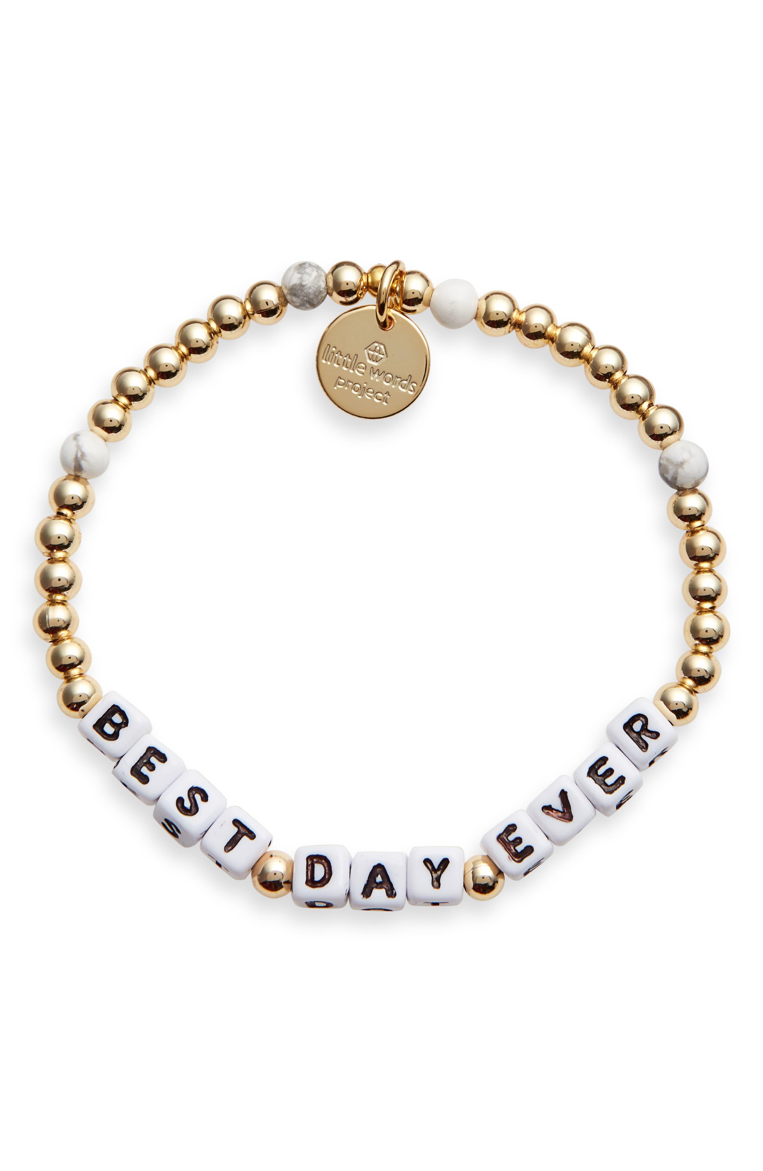 Best Day Ever Beaded Stretch Bracelet