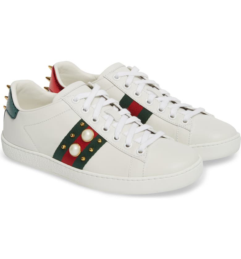 1f35aa669 Gucci New Ace Low Top Sneaker (Women) | Nordstrom