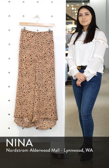 Animal Print High/Low Hem Pants, sales video thumbnail
