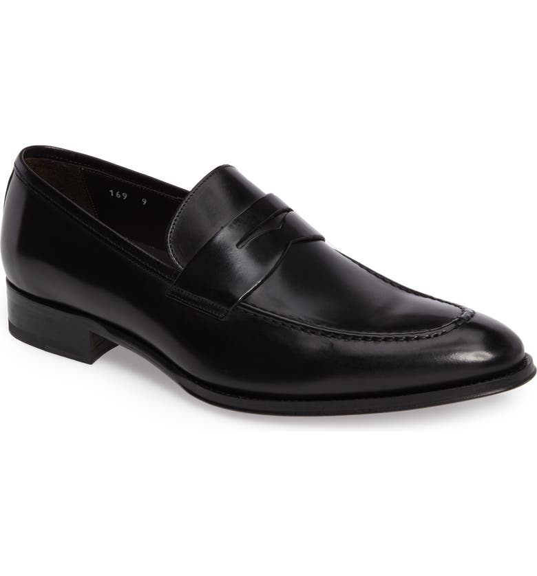 TO BOOT NEW YORK Alexander Penny Loafer, Main, color, BLACK