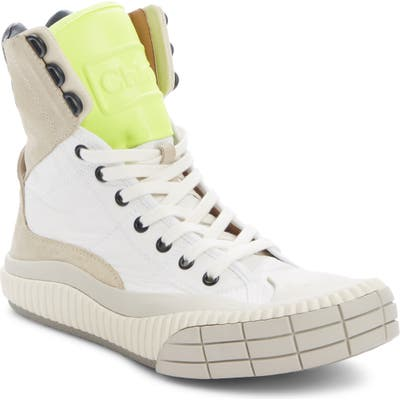 Chloe Clint High Top Sneaker, Beige