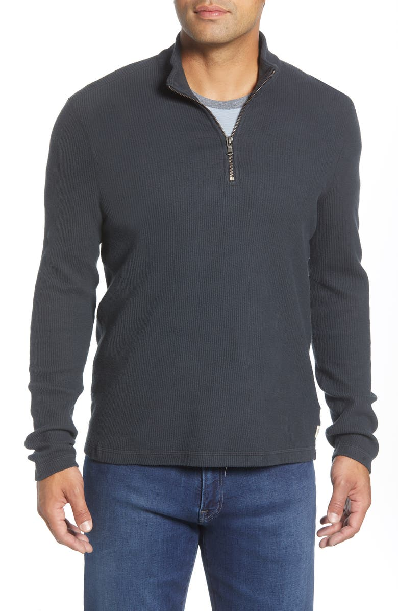 AGAVE Wave Train Quarter Zip Pullover, Main, color, STRETCH LIMO