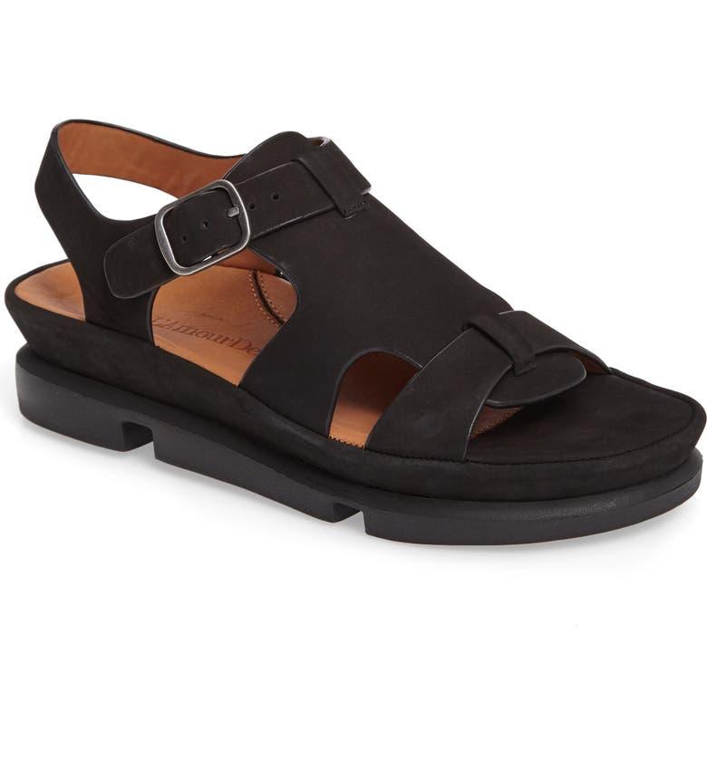 L'AMOUR DES PIEDS Villefranche Sandal, Main, color, BLACK NUBUCK
