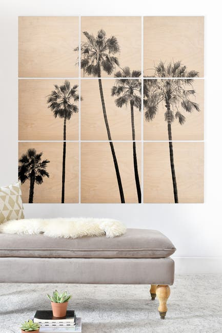 Image of Deny Designs Bree Madden Five Palms Wood Wall Mural