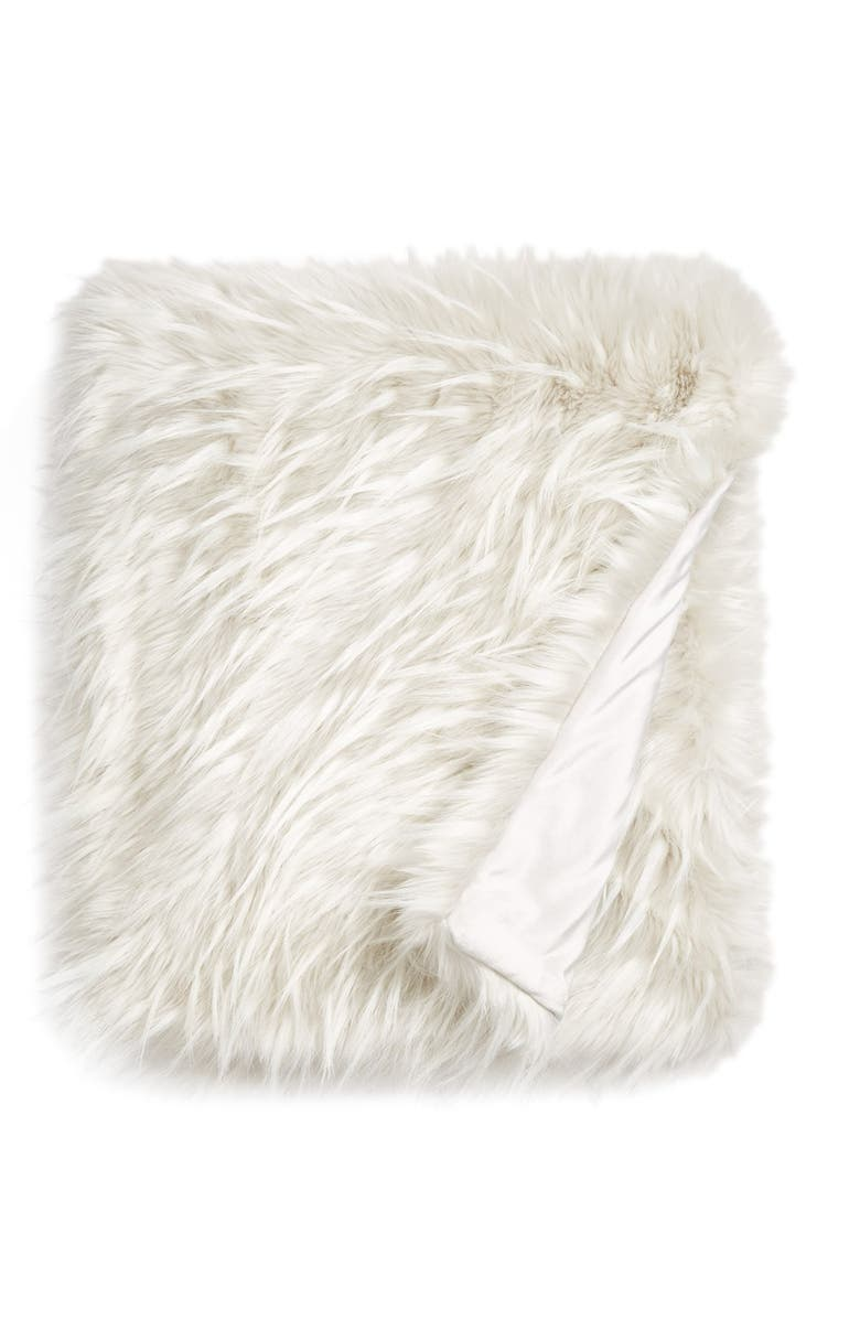 NORDSTROM AT HOME Cuddle Up Faux Fur Throw, Main, color, 021