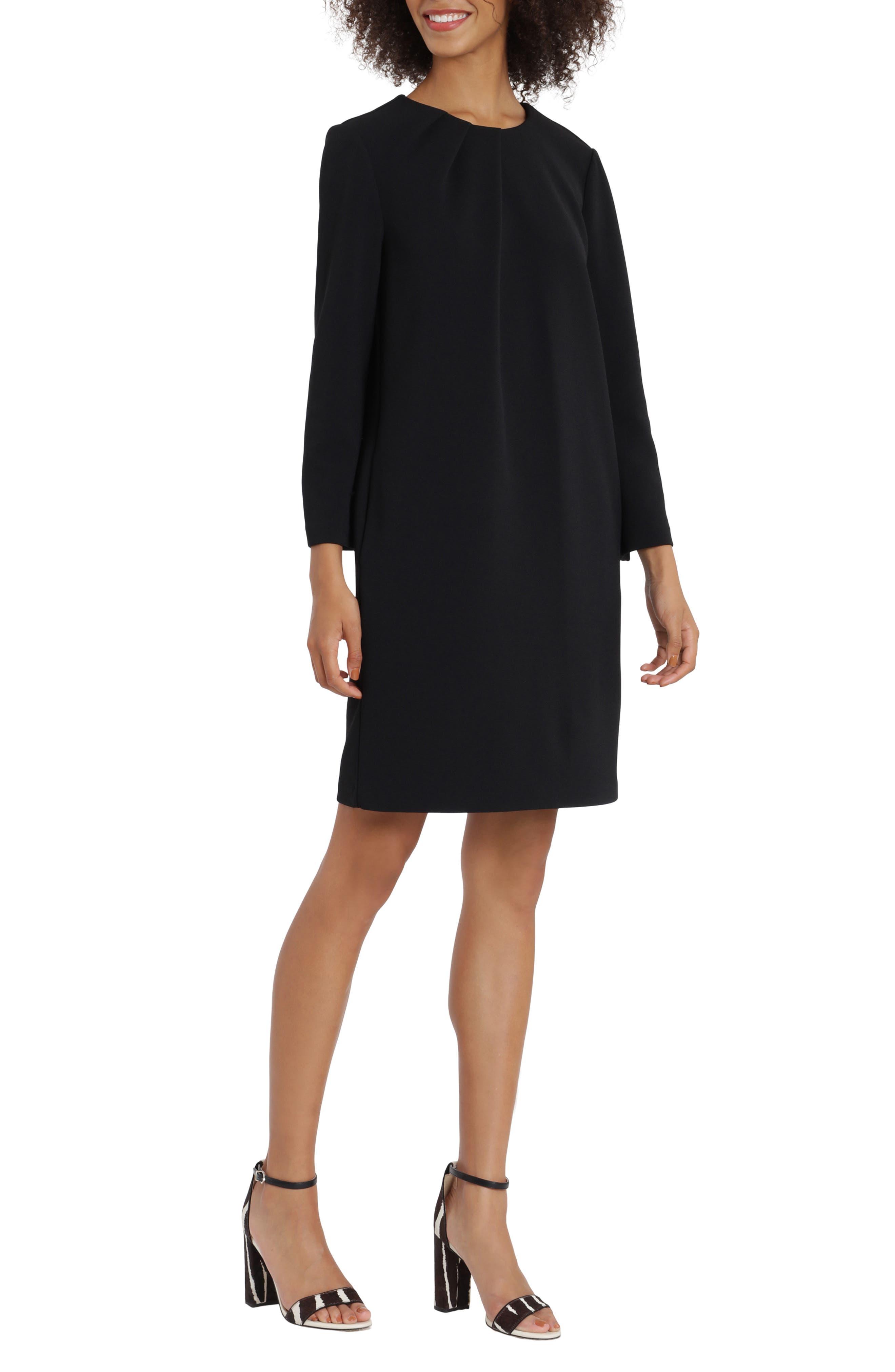 Asymmetrical Drape Sheath Dress