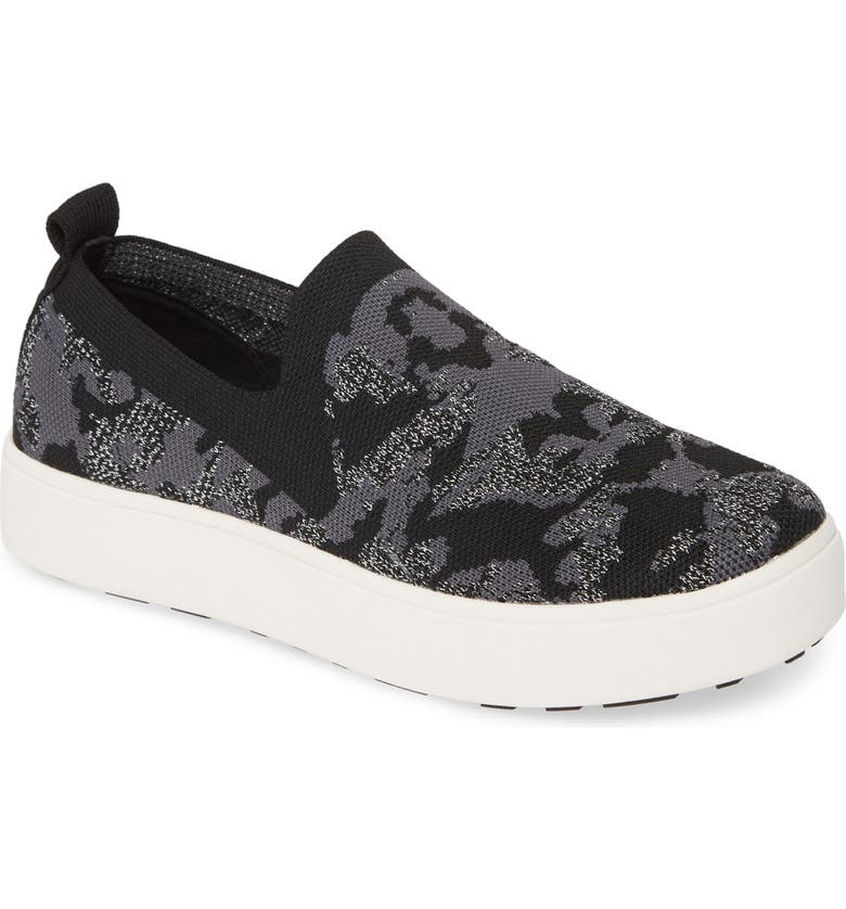 BERNIE MEV. Jenna Slip-On Sneaker, Main, color, PEWTER CAMO FABRIC