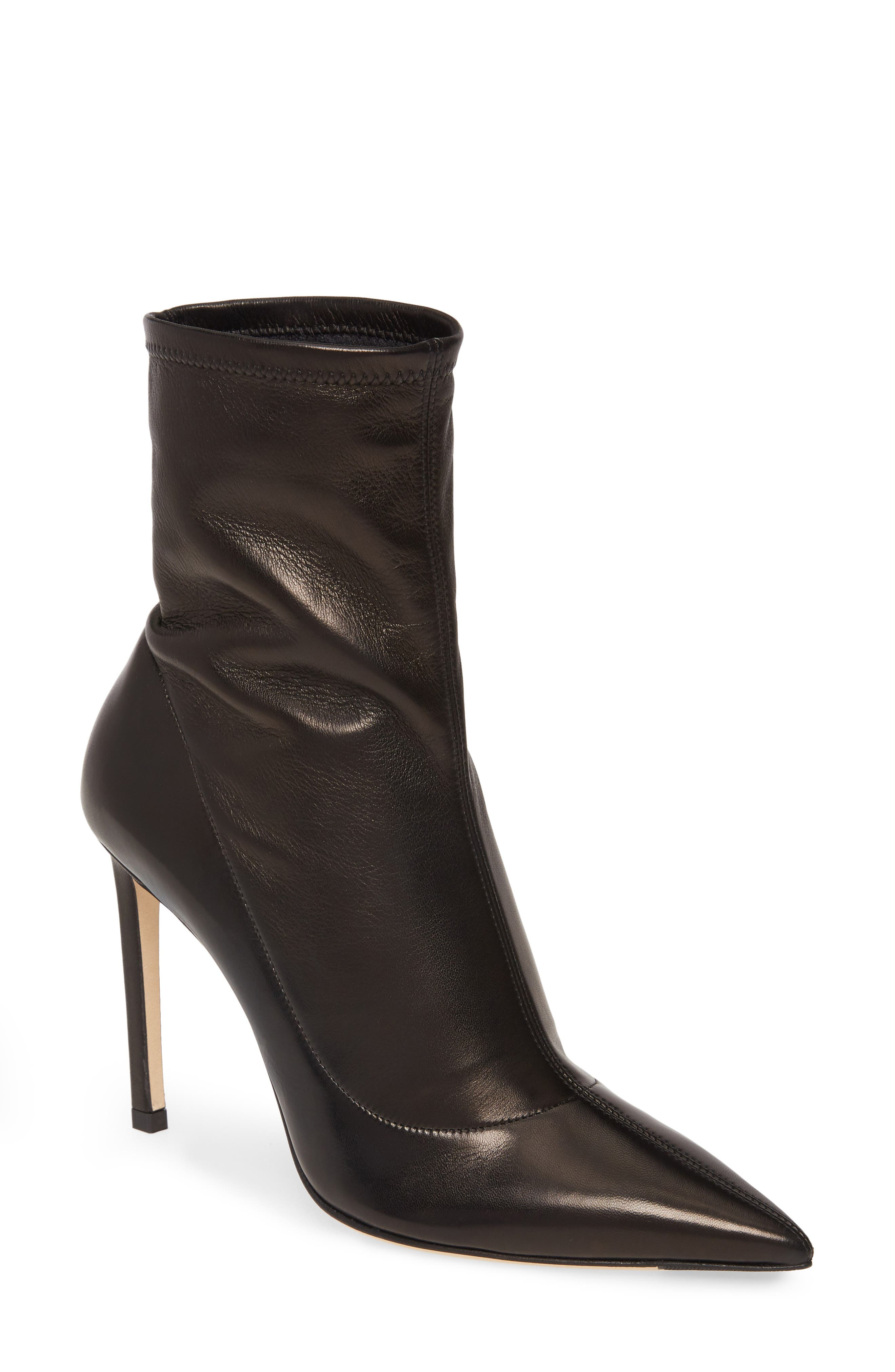 Jimmy Choo Brin Slouch Pointed Toe Stiletto Bootie - Black