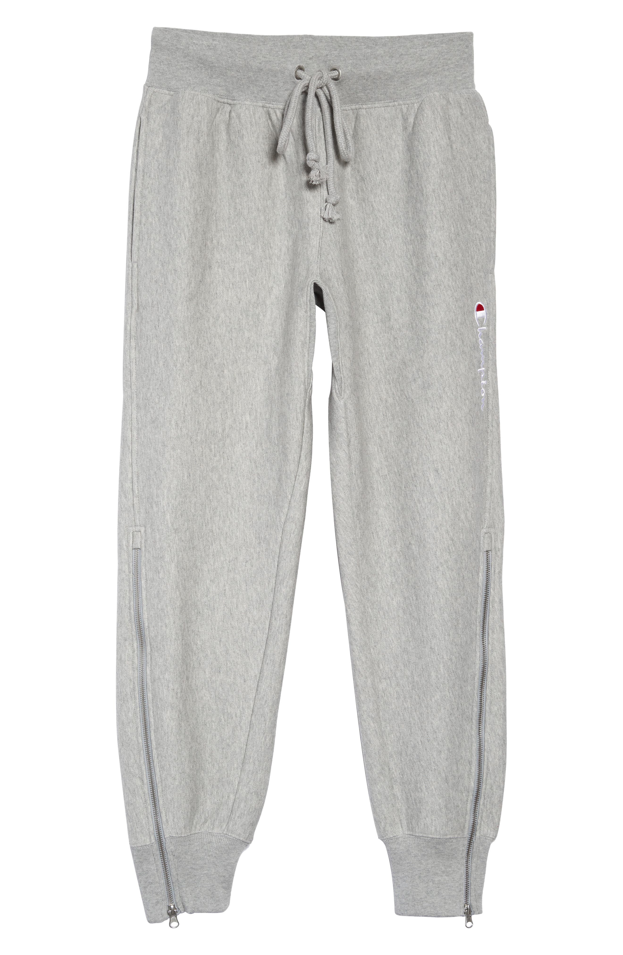 ,                             Reverse Weave Shift Sweatpants,                             Alternate thumbnail 7, color,                             OXFORD GREY/ WATERFALL GREEN