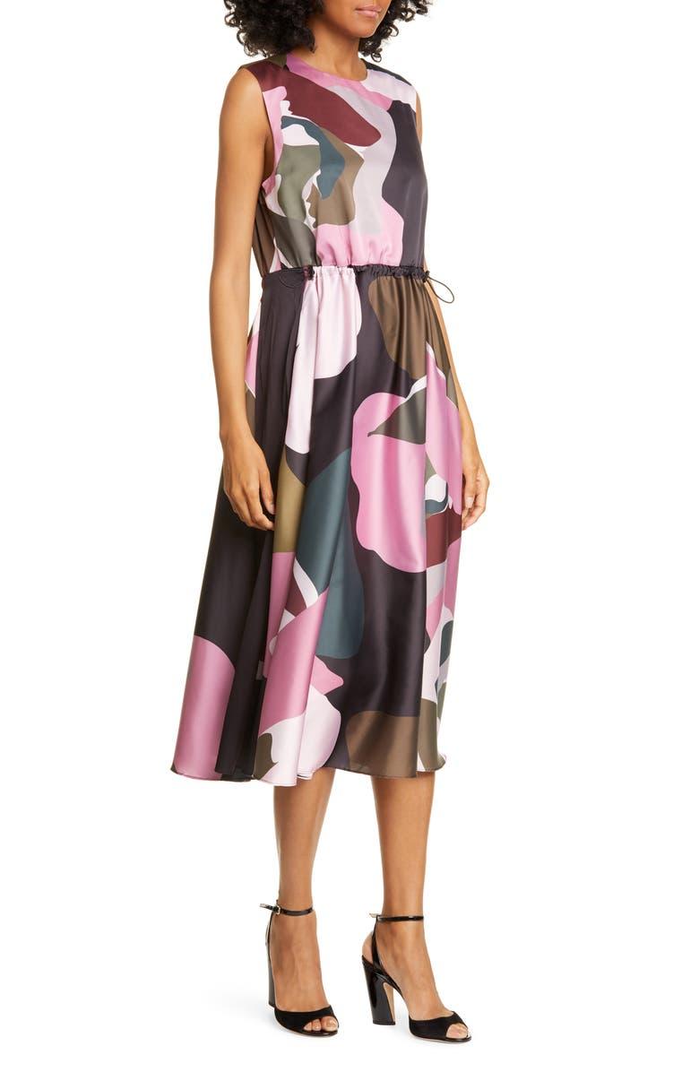 TED BAKER LONDON Sleeveless Dress, Main, color, KHAKI