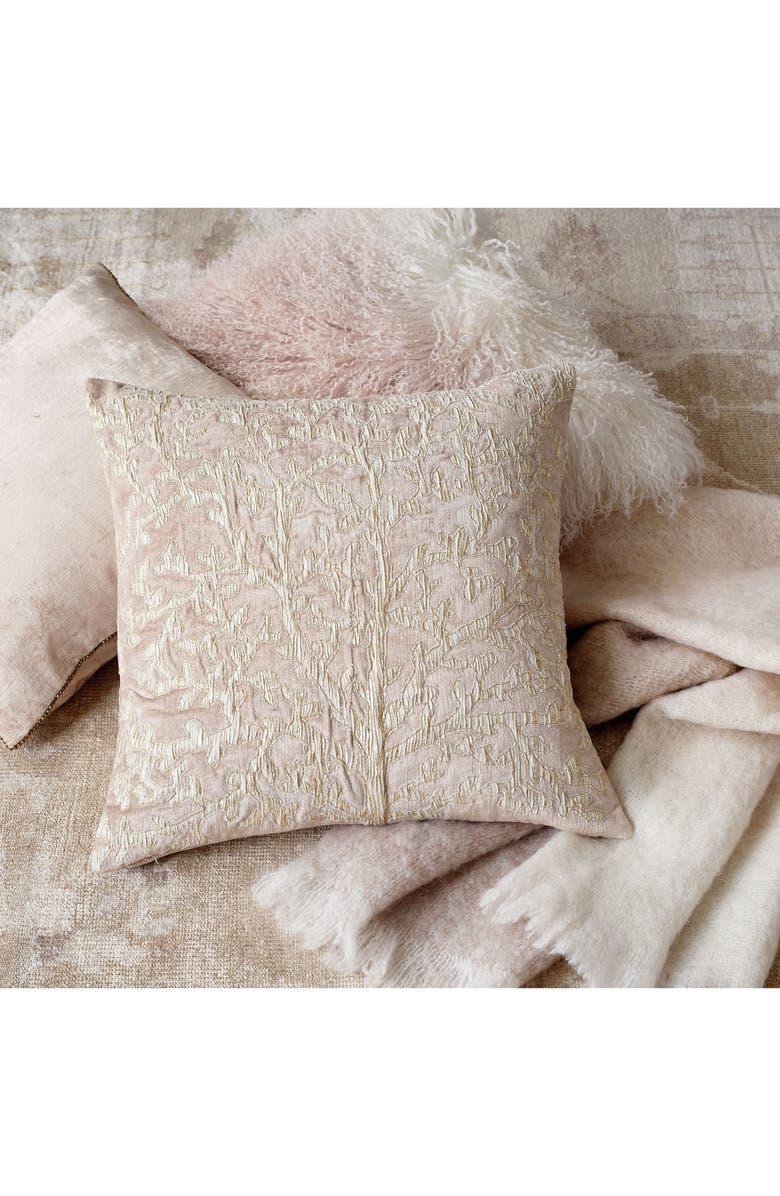 MICHAEL ARAM Tree of Life Appliqué Accent Pillow, Main, color, BLUSH