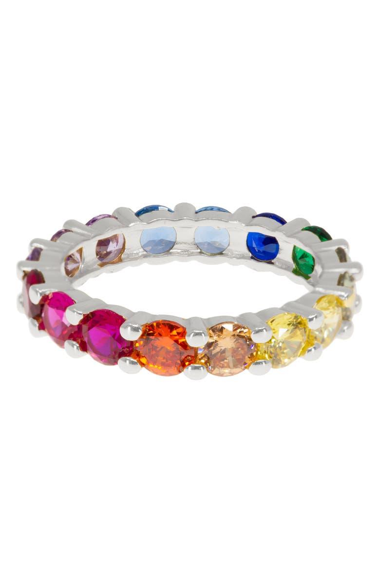 RAGEN JEWELS Rainbow Eternity Ring, Main, color, 040