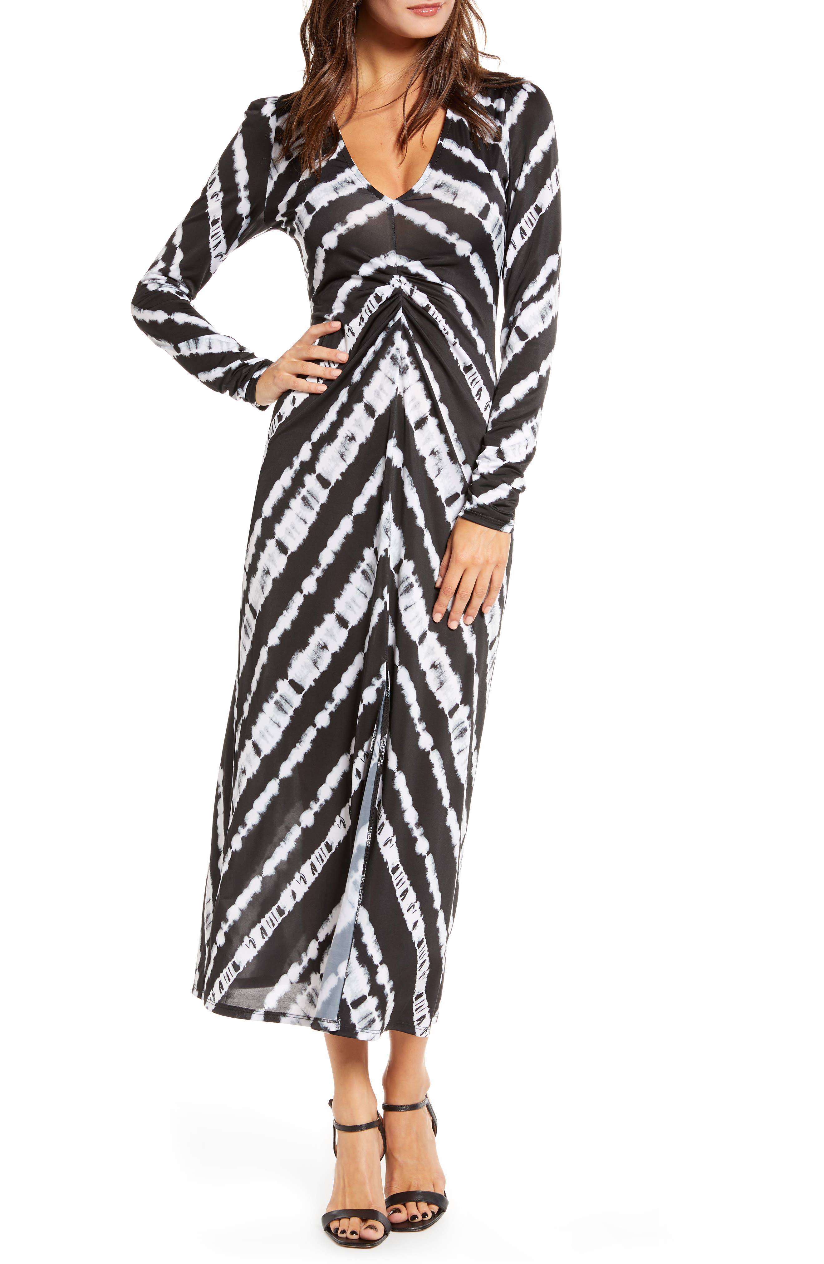 Vintage 1920s Dresses – Where to Buy Womens Afrm Zoey Animal Print Long Sleeve Dress Size Medium - Black $69.00 AT vintagedancer.com