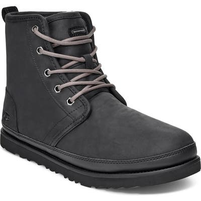 UGG Harkley Plain Toe Waterproof Boot, Black