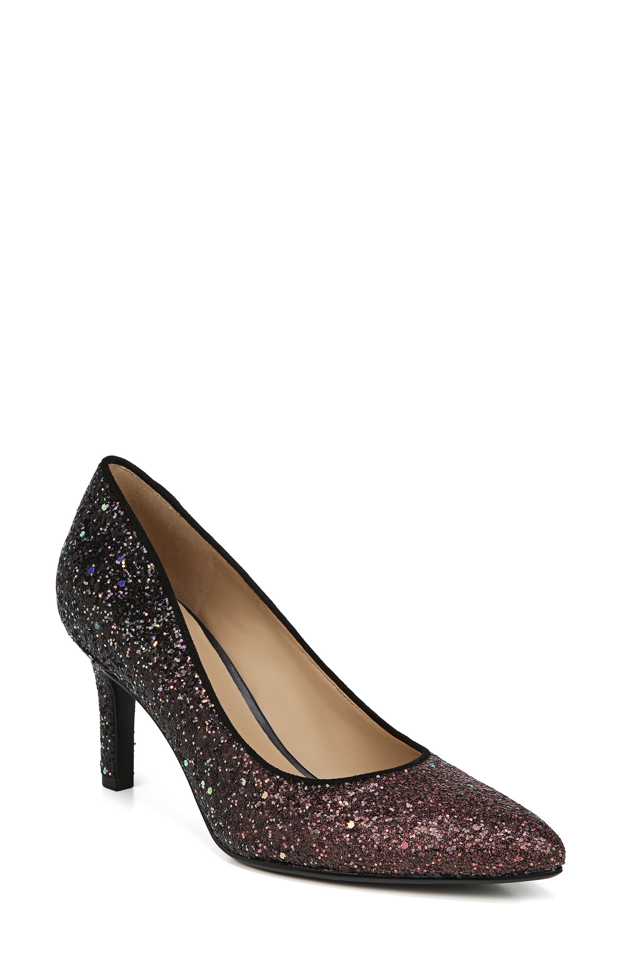 ,                             Natalie Pointy Toe Pump,                             Main thumbnail 1, color,                             MULTI GLITTER FABRIC