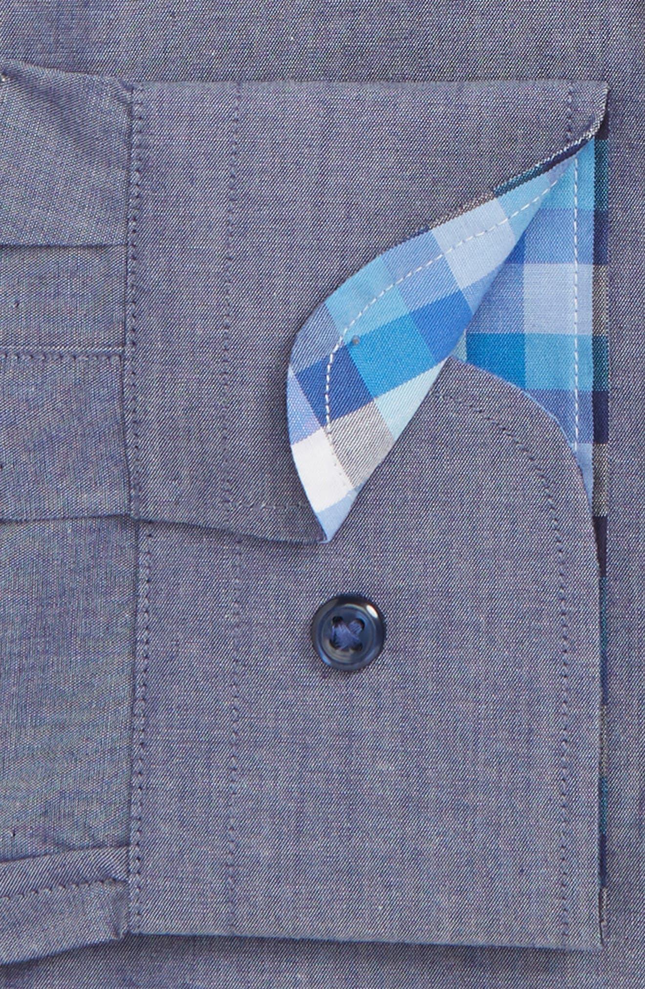 ,                             Trim Fit Non-Iron Solid Dress Shirt,                             Alternate thumbnail 2, color,                             420