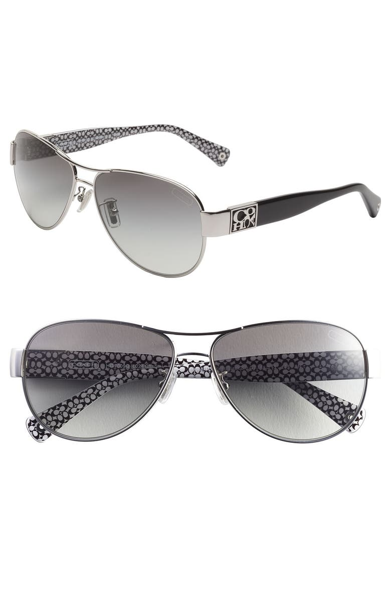 7819835e46bb 'Charity' Metal Aviator Sunglasses, Main, color, ...