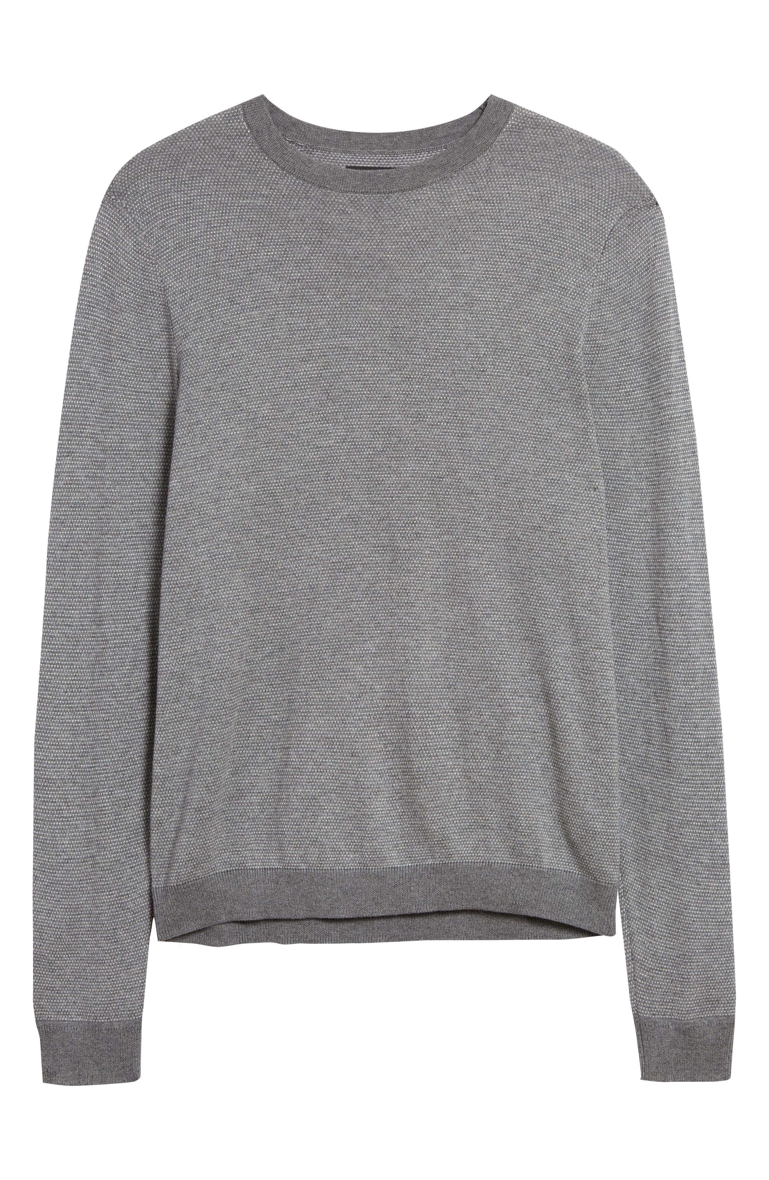 A soft cotton-blend sweater in a birdseye stitch is a refined style staple for any day of the week. Style Name: Nordstrom Men\\\'s Shop Birdseye Crewneck Sweater. Style Number: 5990891. Available in stores.
