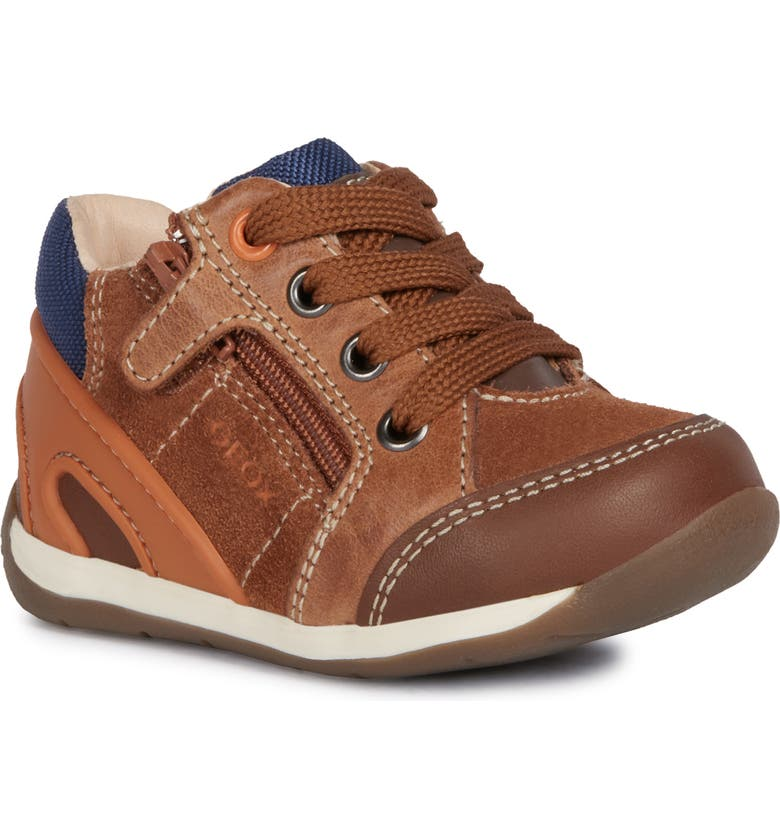 GEOX Each Boy 31 Sneaker, Main, color, LIGHT BROWN/ LIGHT ORANGE