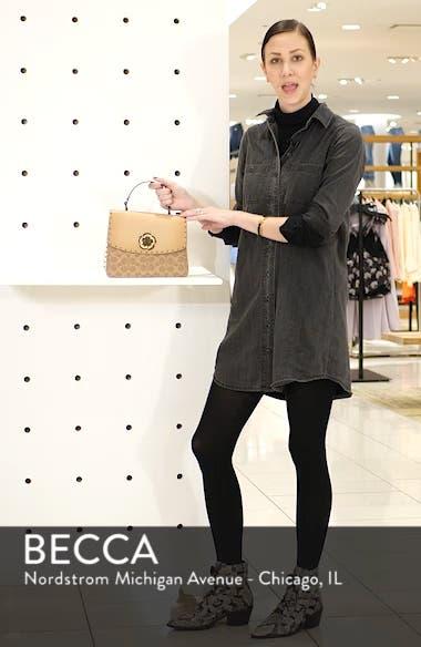 Parker Signature Canvas & Leather Top Handle Shoulder Bag, sales video thumbnail